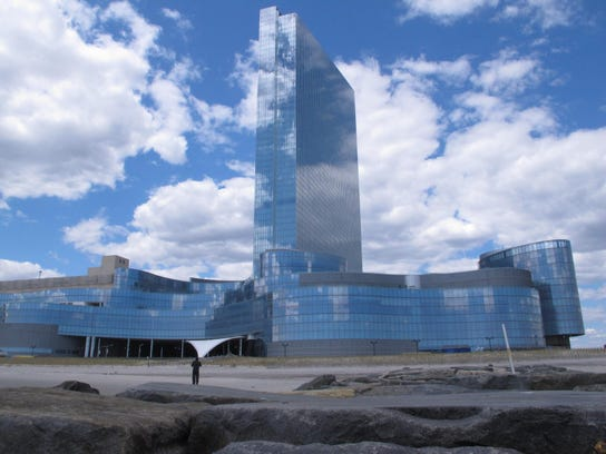 This April 29, 2015 photo shows the former Revel casino