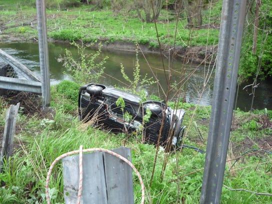 Harrison embankment crash