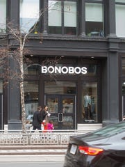 Bonobos, a menswear store that consults, fits and then mails your purchases is photographed Tuesday, Feb. 21, 2017.