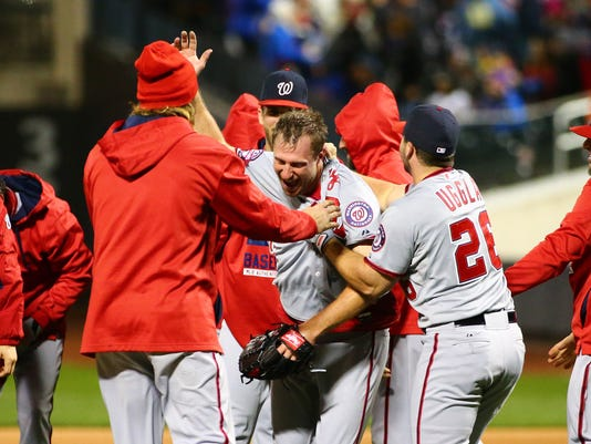 USP MLB: GAME TWO-WASHINGTON NATIONALS AT NEW YORK S BBN USA NY