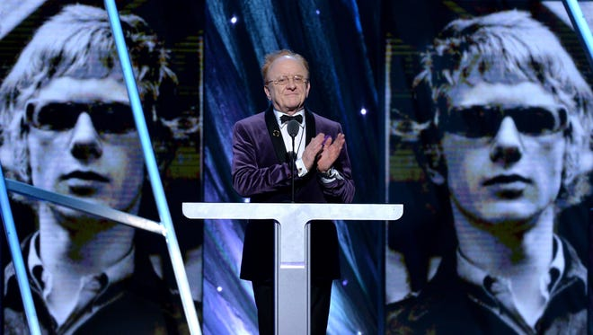 NEW YORK, NY - APRIL 10:  Record Producer Peter Asher speaks onstage at the 29th Annual Rock And Roll Hall Of Fame Induction Ceremony at Barclays Center of Brooklyn on April 10, 2014 in New York City.  (Photo by Larry Busacca/Getty Images)