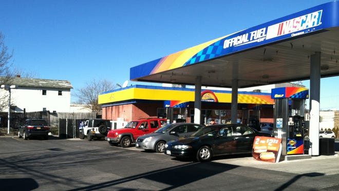 The gas station where Reid Kasunic's body was found Thursday.