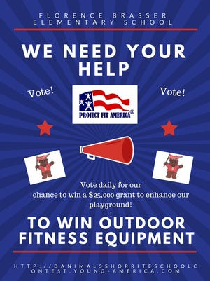 Florence Brasser Elementary School posted a request for votes in order to win a $25,000 grant.