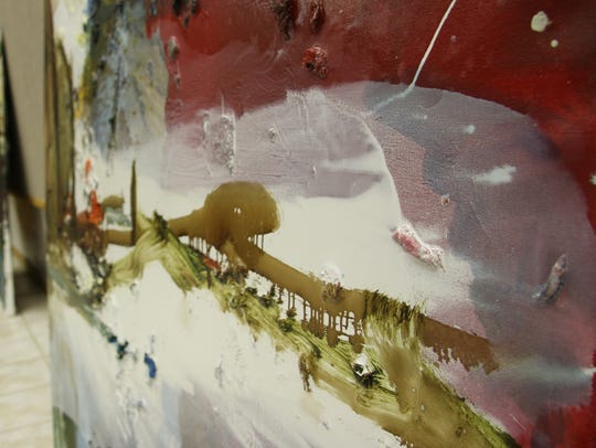 Some of Ferrer's works have been inspired by the horizon's