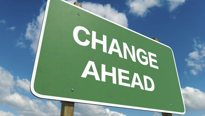 Change Ahead sign is shown.