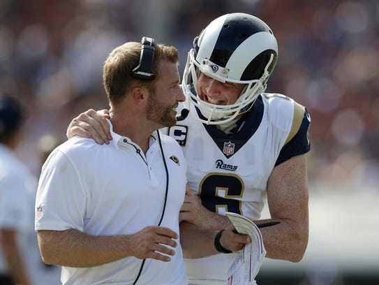 Punter Johnny Hekker and head coach Sean McVay have
