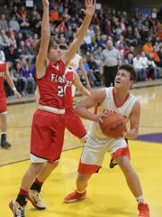 Lucas' Logan Niswander dropped 36 points to lead the Cubs to a big win over Mansfield Christian on Friday night.