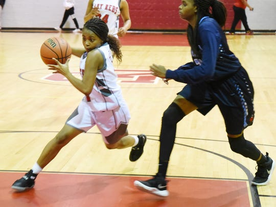 North Caddo's Deyonce Stewart during their game against