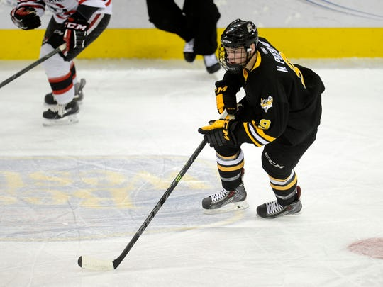 St. Cloud State recruit Nick Poehling is in his first season with the Green Bay Gamblers of the United States Hockey League.