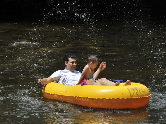 Tubing the Davidson River in Pisgah National Forest