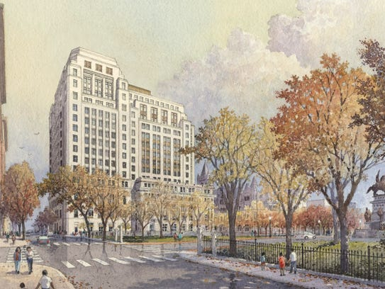 The new, 15-story building will be constructed on the