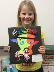 """Bria Polzin created this Picasso Head """"The Colorful Creature."""""""