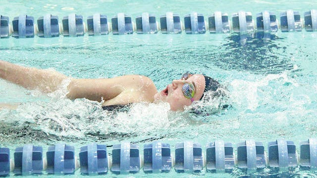 Sydney Perry surged to two individual state championships at last winter's Class 6A state swimming meet to lead a short-handed Bartlesville High team to fifth place overall. Mike Tupa/Examiner-Enterprise