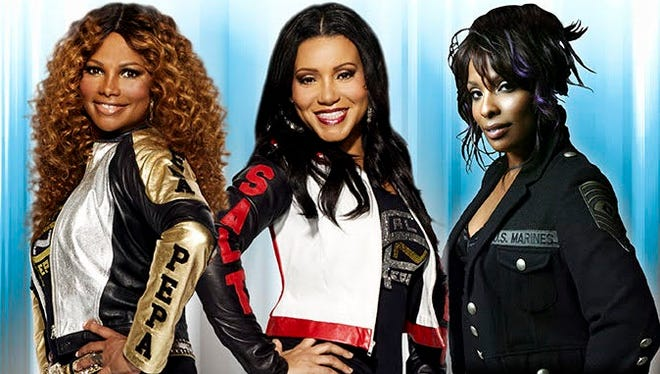 Rappers Salt-N-Pepa, along with their DJ, Spinderella, at right, will perform during the I Love the '90s concert Saturday at Southwest University Park in Downtown.