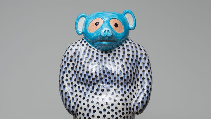 """Untitled sculpture of a tanuki, or """"racoon dog,"""" by"""