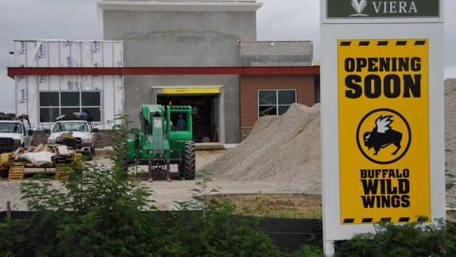 Buffalo Wild Wings is under construction in Viera.