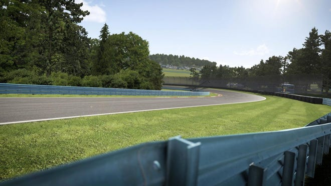 A screen shot from Watkins Glen International in Forza Motorsport 6 on the Xbox One console.