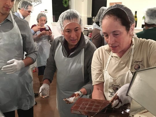 Chocolate making classes at Carol's Creative Chocolatez.