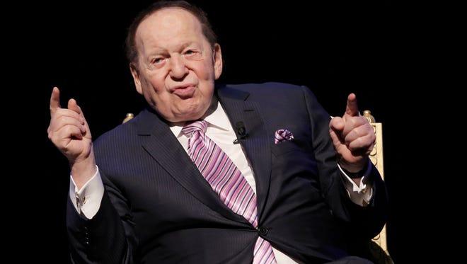 U.S. billionaire Sheldon Adelson