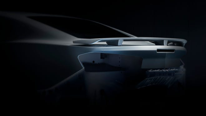 No pictures of the 2016 Chevrolet Camaro have been released, but GM released this teaser view of the vehicle's broad, dramatic rear fenders.
