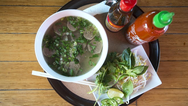 Pho, a Vietnamese noodle soup, is one of the most popular items on Broadway's new food menu.
