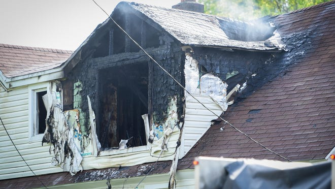 Firefighters responded to a house fire Wednesday, June 3, 2020, on Broad Street in Frankfort.