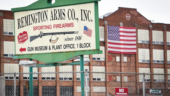 A total of 717 workers at the Remington Arms plant in Ilion face layoffs by around late September as the company goes through bankruptcy proceedings, according to a layoff notice filed to the state Department of Labor.