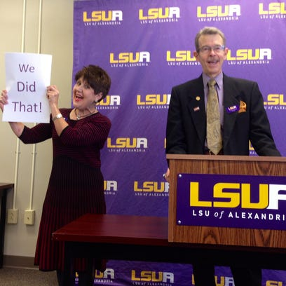 LSUA Chancellor Dan Howard (right) is stepping down