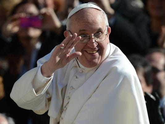 Photo -- pope visit