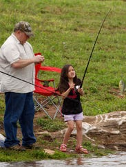 Fishing at Rutledge-Wilson Farm Park.