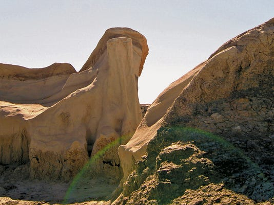 The Bisti/De-Na-Zin Wilderness features a number of rare rock formations, including the pictured hoodoos. The area, which is about 30 miles outside Farmington, is seen in October. (Jaclyn Waggoner/Special to The Daily Times)