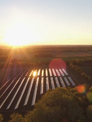 The solar farm at Ithaca College.