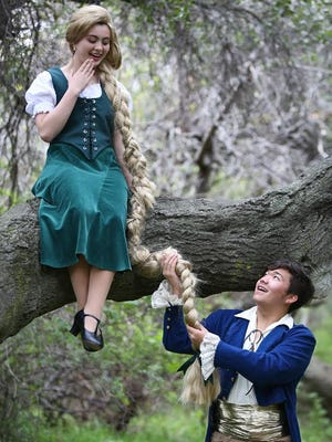 "Celina Kott and Kobe Burton star in ""Into the Woods Jr.,"" on stage at the Conejo Players Theater in Thousand Oaks through April 29."