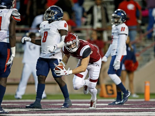 Conner Cramer's seven-yard touchdown catch gave New Mexico State a 22-17 victory over South Alabama last week at Aggie Memorial Stadium.