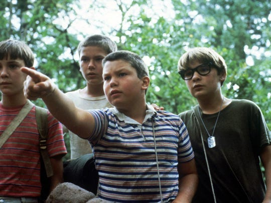 Wil Wheaton, left, River Phoenix, Jerry O'Connell and