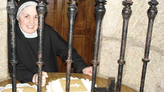 Nuns throughout Spain bake and sell specialty treats, like these almond cakes in Santiago de Compostela.