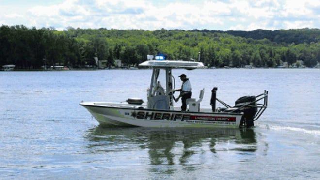 Deputy Doug Morsch on patrol in Marine 1 on Conesus Lake.