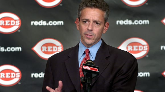 2006.1004.10.2--THOM BRENNAMAN--Thom Brennaman, speaks about joining his father, Hall of Fame broadcaster Marty Brennaman, after Cincinnati Reds CEO Bob Castellini announced the broadcast father and son team of Marty and Thom Wednesday, October 4, 2006, at Great American Ball Park during a sometimes emotional press conference. The Enquirer/Craig Ruttle