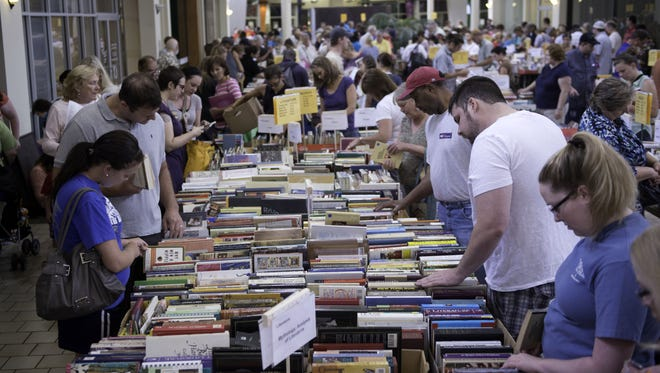 Hundreds of people turn out annually for the Really Good, Really Big, Really Cheap Book Sale. Proceeds from the book sale benefit the programs at the Greenville Literacy Association.
