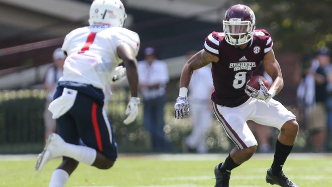 Mississippi State's Fred Ross had six catches against South Alabama.
