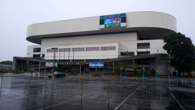 The Pensacola Bay Center is pictured Thursday, June 15, 2017.