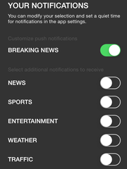 You can pick which categories you want to receive push alerts for in the updated Register app.