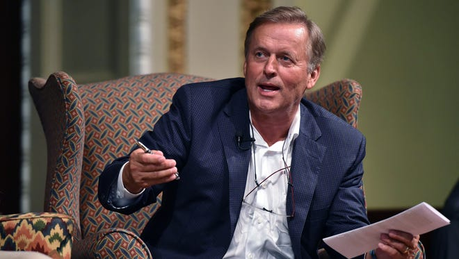 John Grisham, who has almost 300 million books in print, spoke in September 2015 at the inaugural Mississippi Book Festival in Jackson in 2015.