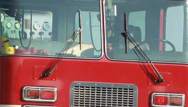 A fire displaced 10 people Wednesday afternoon.