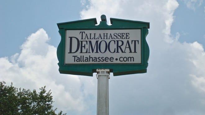 Tallahassee Democrat sign