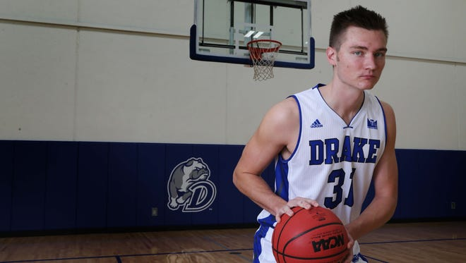 Kale Abrahamson is averaging 16.1 points in his first season with the Drake men's basketball team.