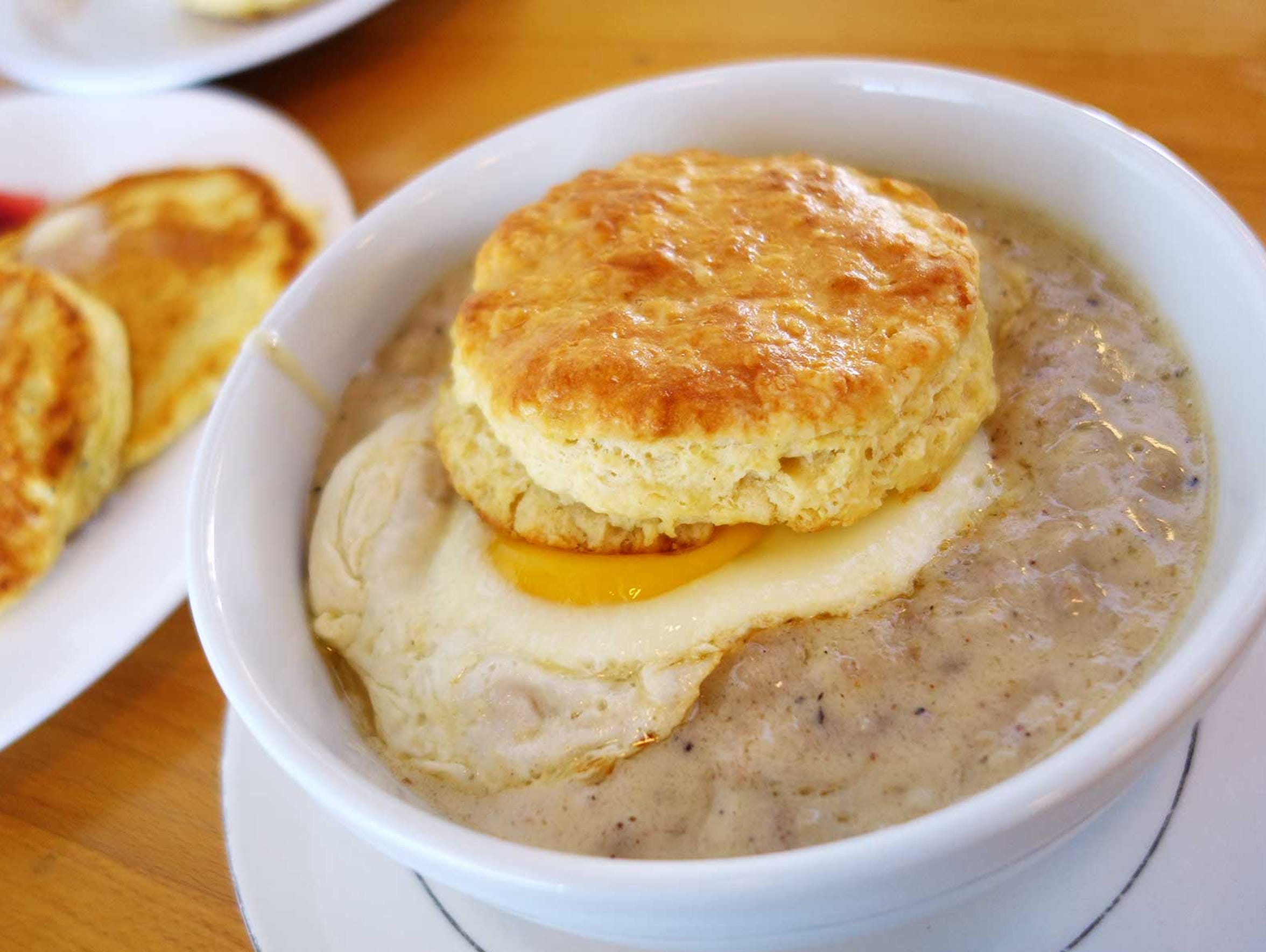Biscuits and gravy at Ollie Vaughn's.