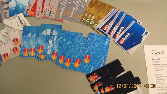 Counterfeit credit cards were seized by federal law enforcement officials from the site Fakeplastic.net in Charlotte.