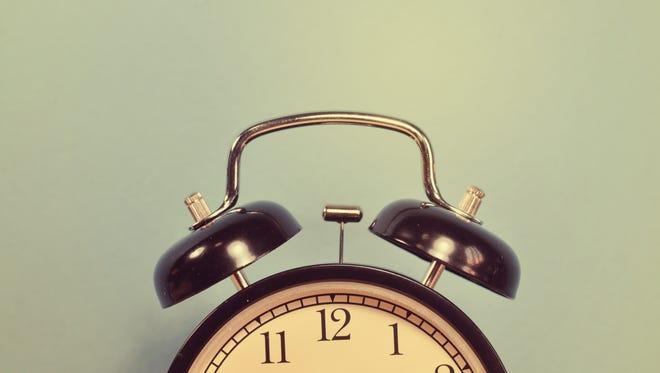 Daylight Saving Time begins Sunday, March 13.