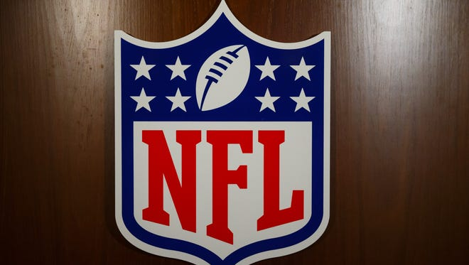 Detailed view of the NFL seal logo during the NFL Annual Meetings at the Biltmore Resort.
